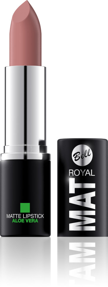 Bell Помада губная матовая с алоэ вера Royal Mat Lipstick (5 бежевый)