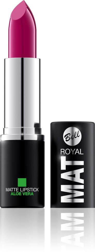 Bell Помада губная матовая с алоэ вера Royal Mat Lipstick (20 малиновый)