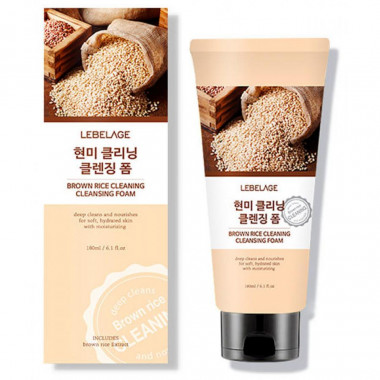 Lebelage Пенка с рисом Brown rice cleaning cleansing foam 180 мл — Makeup market