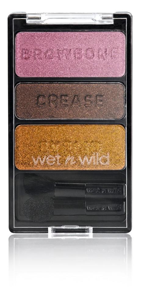 Wet n Wild Тени для век Трио Color Icon Eyeshadow Trio (E334 i`m getting sunburned)Wet n Wild<br>Включает в себя 3 оттенка: бежевый, темно-серый, коричневый.Способ применения:<br>Способ применения: аккуратно нанести на веки специальной кисточкой<br>Состав:<br>Talc, Dimethicone, Aluminum Starch Octenylsuccinate, Magnesium Stearate, Ethylhexyl Palmitate, Trimethylsiloxysilicate, Nylon-12, Caprylyl Glycol, Polyethylene, Silica Dimethyl Silylate, Boron Nitride, Caprylhydroxamic Acid, Glycerin, Dimethicone/Methicone Copolymer, [+/- (MAY CONTAIN): Aluminum Powder/CI 77000, Black 2/CI 77266, Carmine/CI 75470, Ferric Ferrocyanide/CI 77510, Iron Oxides/CI 77491, CI 77492, CI 77499, Manganese Violet/CI 77742, Mica, Red 40 Lake/CI 16035, Titanium Dioxide/CI 77891, Ultramarines/CI 77007].<br><br>Вес г: 60<br>Бренд : Wet&amp;Wild<br>В комплекте : кисть<br>Способ нанесения : сухой<br>Эффект на веках : матовый<br>Тип теней : компактные<br>Страна производитель : Китай