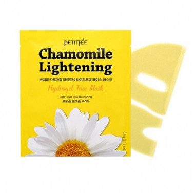 Petitfee Гидрогелевая маска экстрактом ромашки Chamomile Lightening Hydrogel Face Mask — Makeup market
