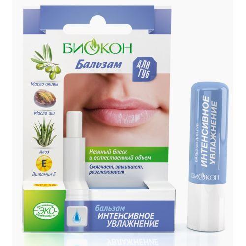 Биокон интенсивное увлажнение бальзам для губ