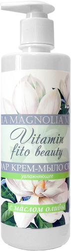 Liss Kroully VITAMIN FITO Beauty Мыло-крем жидкое Магнолия и масло оливы увлажняющее 500мл