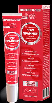 ПРОПЕЛЛЕР Estetic RED Крем-Праймер матирующий для лица с расширенными порами 20 мл