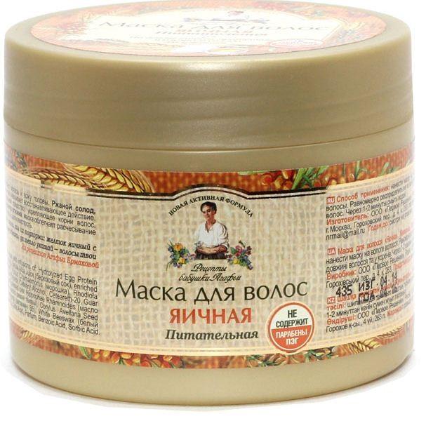 Рецепты Б.Агафьи Маска для волос Яичная 300 мл.