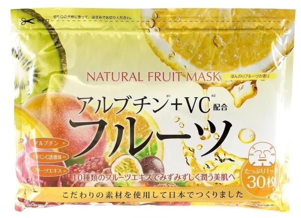 JAPONICA JAPAN GALS Курс натуральных масок для лица с Фруктовыми экстрактами 30шт
