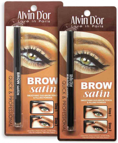 Alvin d'or Дуэт для бровей карандаш+пудра Brow Satin  — Makeup market