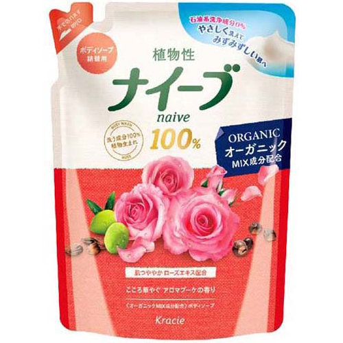 KANEBO NAIVE Жидкое мыло для тела запаска Роза 400мл (Kanebo)