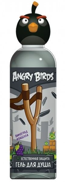 Angry Birds Гель для душа Естественная защита виноград изабелла Черная птица Бомб