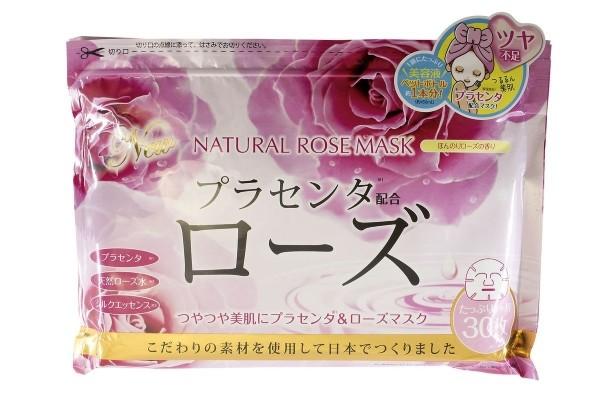 JAPONICA JAPAN GALS Курс натуральных масок для лица с экстрактом Розы 30шт