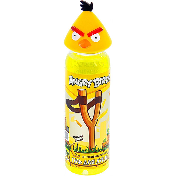 Angry Birds Гель для душа  Интенсивное питание спелый банан Желтая птица Чак