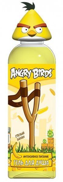 """Angry Birds Гель для душа """"Интенсивное питание"""" спелый банан Желтая птица Чак"""