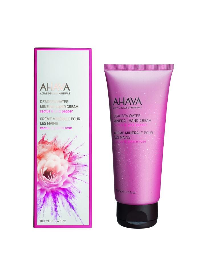 Ahava Deadsea Water Минеральный крем для рук кактус и розовый перец 100 мл