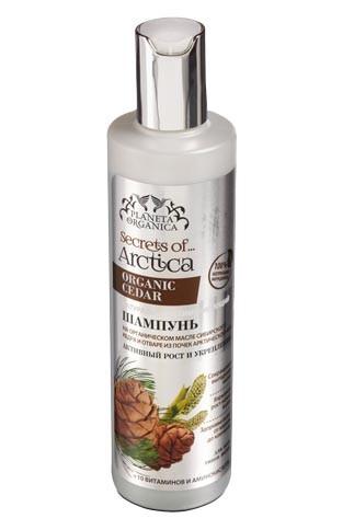 Planeta Organica шампунь для всех типов волос Активный рост и укрепление с кедром 280 мл