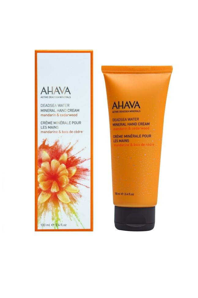 Ahava Deadsea Water Минеральный крем для рук мандарин и кедр 100 мл