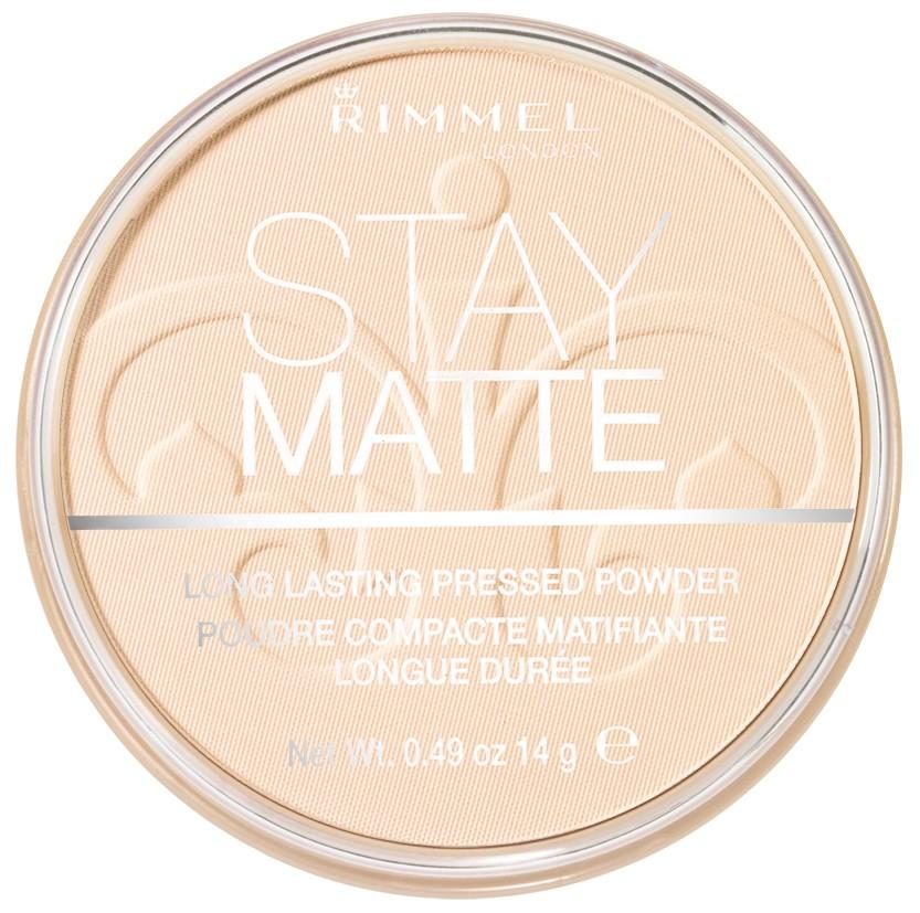 Rimmel Cпресованная Пудра Stay Matte Re-pack (001 transparent)