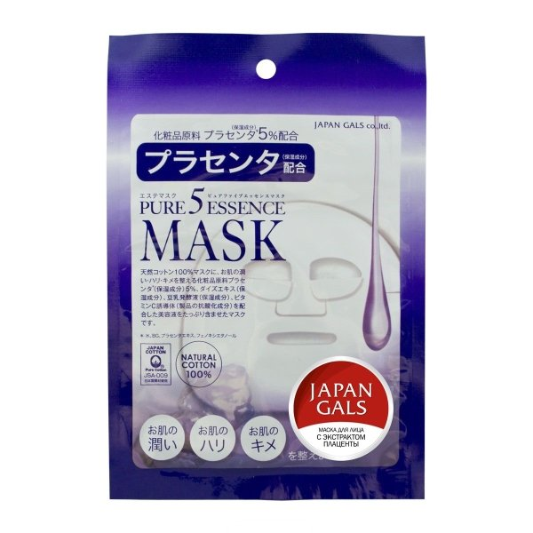 JAPONICA JAPAN GALS Маска для лица с Плацентой 1шт (Japonica)