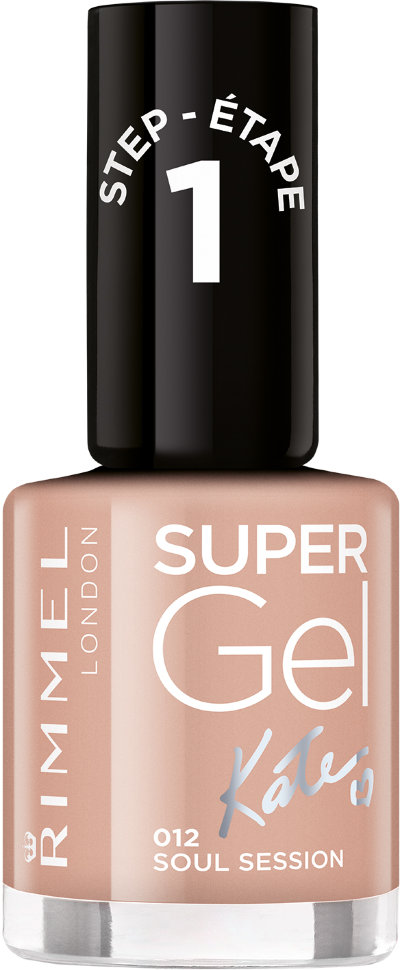 Rimmel Super Gel Kate nail polish гель-лак для ногтей 12 мл (012 темно-бежевый)
