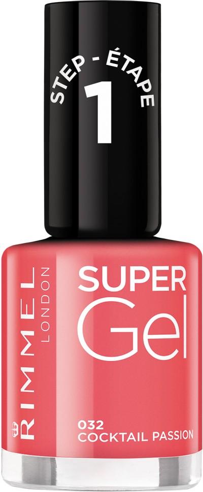 Rimmel Super Gel Kate nail polish гель-лак для ногтей 12 мл (032 алый)