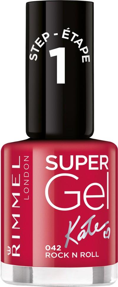 Rimmel Super Gel Kate nail polish гель-лак для ногтей 12 мл (042 красный)