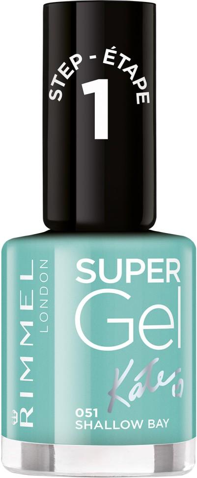 Rimmel Super Gel Kate nail polish гель-лак для ногтей 12 мл (051 светло-зеленый)
