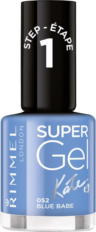 Rimmel Super Gel Kate nail polish гель-лак для ногтей 12 мл (052 светло-голубой)