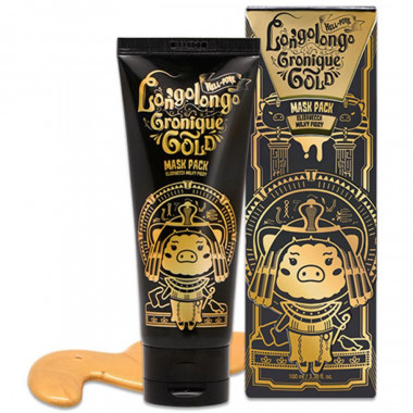 Elizavecca Золотая маска-пленка Hell-Pore Longolongo Gronique Gold Mask Pack 100 мл — Makeup market