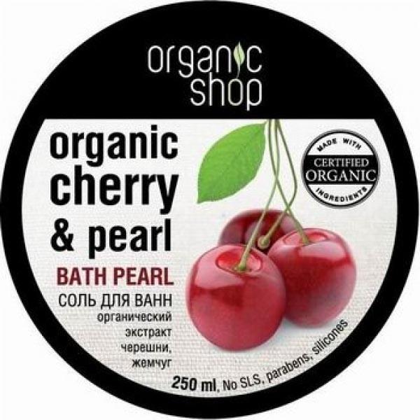 Organic shop Соль для ванн жемчужная Кенийская черешня