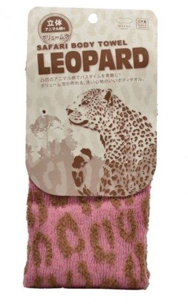 JAPONICA Marna Мочалка с ребристой текстурой Леопард