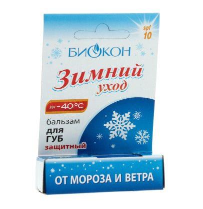 БИОКОН Зимний Уход Бальзам для губ защитный 4.5мл (Биокон)