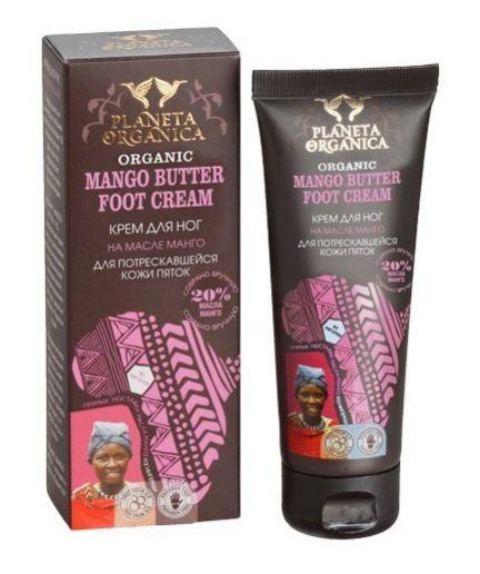 Planeta Organica Крем для ног для потрескавшейся кожи пяток Манго