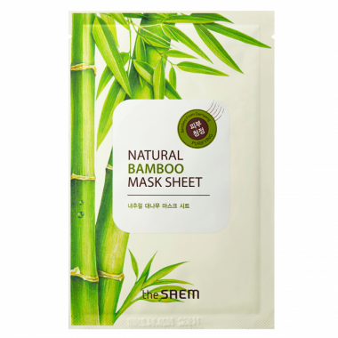The Saem Маска тканевая с экстрактом бамбука New Natural Bamboo Mask Sheet 21мл — Makeup market