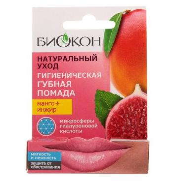 БИОКОН Натуральный Уход Помада губная гигиеническая Манго+Инжир 4,6гр