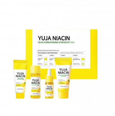 Some By Mi Набор для осветления кожи Yuja niacin 30 Days Brightening Starter 4 Kit — Makeup market