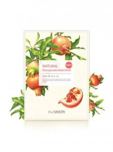 The Saem Маска тканевая с экстрактом граната Natural Pomegranate Mask Sheet 21 мл — Makeup market
