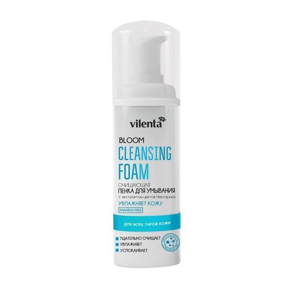 VILENTA BLOOM Пенка для умывания всех типов кожи лица с экстрактом Персикового дерева