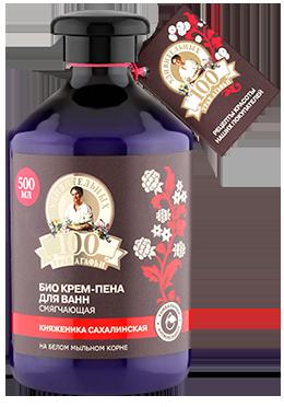 100 удивительных трав Агафьи Пена-крем БИО для ванн Смягчающая (Рецепты Б.Агафьи)