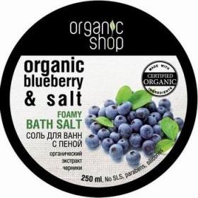 Organic shop Соль-пена для ванн Черничный йогурт