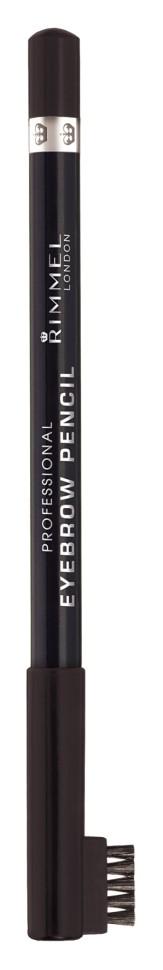 Rimmel Карандаш для бровей с щеточкой Professional Eyebrow Pencil Re-pack (004 brown black)