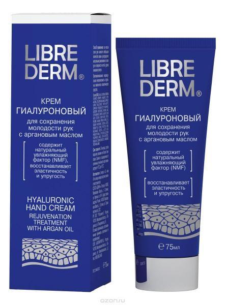 LIBREDERM Гиалуроновый крем для рук сохранит молодость с аргановым маслом 75мл (Librederm)