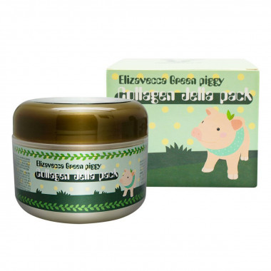 Elizavecca Коллагеновая маска Green Piggy Collagen Jella Pack 100 мл — Makeup market