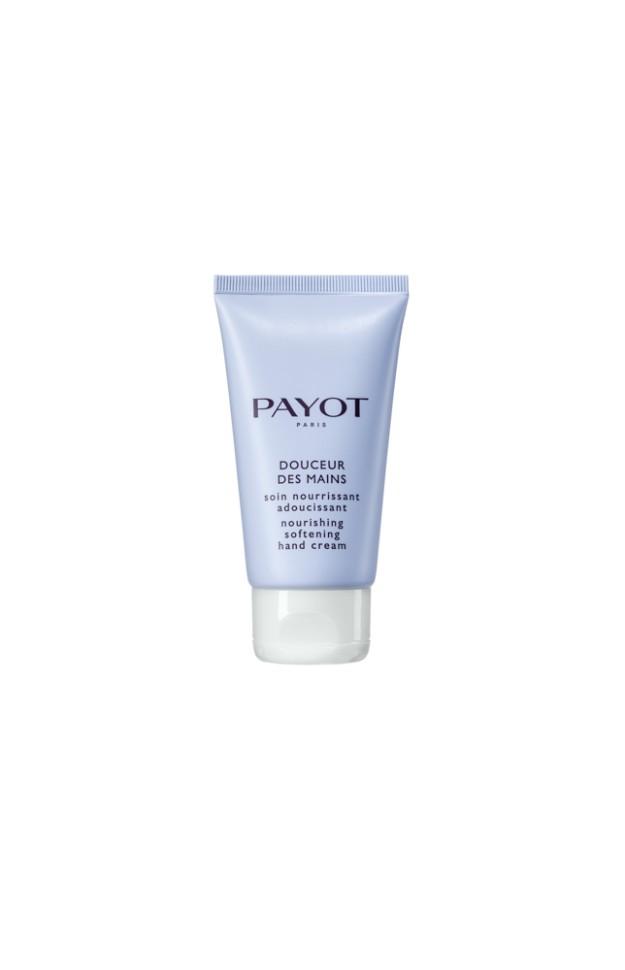 Payot Corps Питательный крем для рук 50 млPayot<br>Восхитительный крем для рук увлажняет, питает, защищает кожу, ухаживает за ногтями и кутикулой.<br>Способ применения:<br>Средство для ежедневного ухода. Наносите на предварительно очищенную кожу рук по мере необходимости.<br>Состав:<br>AQUA (WATER), GLYCERIN, BUTYROSPERMUM PARKII (SHEA) BUTTER, CETEARYL ISONONANOATE, BUTYLENE GLYCOL, CETEARYL ALCOHOL, PROPYLHEPTYL CAPRYLATE, GLYCERYL STEARATE, PENTAERYTHRITYL DISTEARATE, CETEARYL GLUCOSIDE, DIMETHICONE, HYDROXYETHYL ACRYLATE/SODIUM ACRYLOYLDIMETHYL TAURATE COPOLYMER, CETYL ALCOHOL, PHENOXYETHANOL, PEG-100 STEARATE, TOCOPHERYL ACETATE, CHLORPHENESIN, XANTHAN GUM, PARFUM (FRAGRANCE), O-CYMEN-5-OL, POLYSORBATE 60, SORBITAN ISOSTEARATE, CITRIC ACID<br><br>Вес г: 103<br>Бренд : Payot<br>Объем мл: 50<br>Возраст : 16<br>Средство для рук : крем<br>Страна производитель : Франция