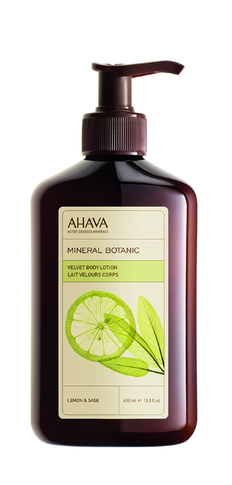 Ahava Mineral Botanic Бархатистый крем для тела лимон и шалфей 400 мл
