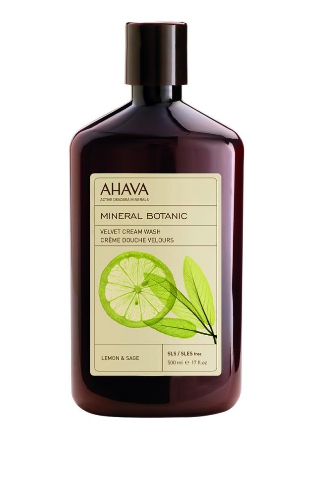 Ahava Mineral Botanic Бархатистое жидкое крем-мыло лимон и шалфей 500 мл