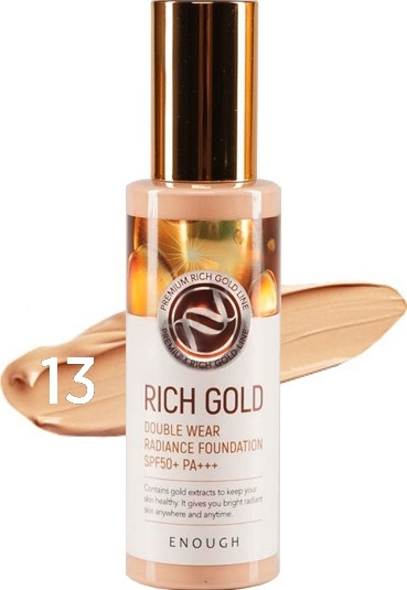 Enough Крем тональный с золотом Rich gold double wear radiance foundation #13 100 мл — Makeup market