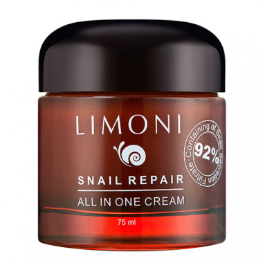 Limoni Snail repair all in one cream Крем для лица восстанавливающий 50мл — Makeup market