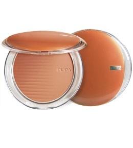 Pupa компактная пудра с бронзирующим эффектом Desert bronzing powder (03 amber light)