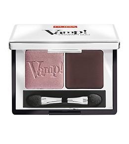 Pupa тени для век двойные компактные Vamp (№002 розово-коричневый мерцающий+матовый коричневый)
