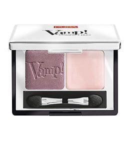 Pupa тени для век двойные компактные Vamp (№003 розово-коричневый мерцающий+матовый св.розовый)