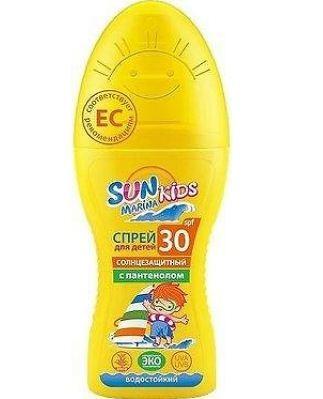 БИОКОН Sun Marina Kids Спрей для безопасного загара SPF30 с пантенолом 150мл